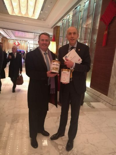 CEO Ross McMahon meeting with Dr Liam Fox